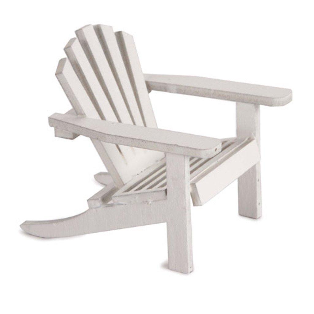 Timeless Minis 6 Miniature Furniture Mini Small White Adirondack Chair by Timeless Minis