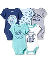 Baby Boys' 5 Pack Bodysuits