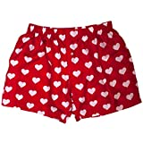 Royal Silk Red Silk Heart Boxers 2.0 by Love You Valentine Special - Men's 2XL (39-40'')