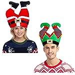 Christmas Santa Elf Pants Hats