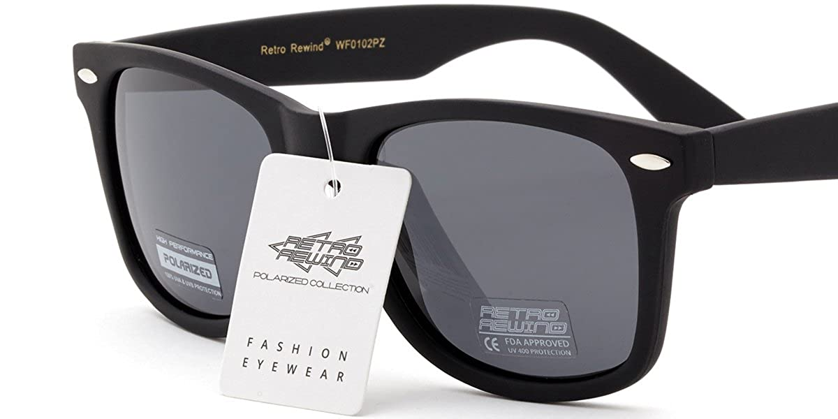 9a1f8b4f81 Amazon.com  Retro Rewind Classic Polarized Sunglasses  Clothing