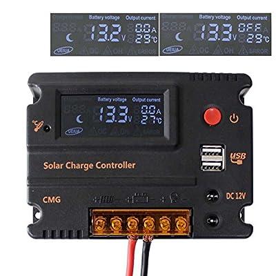 Sun YOBA 10A 20A 12V 24V Solar Charge Controller Solar Controller with USB Port