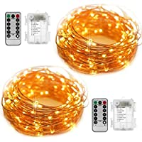 YIHONG Fairy String Lights Battery Operated Set of 2,...
