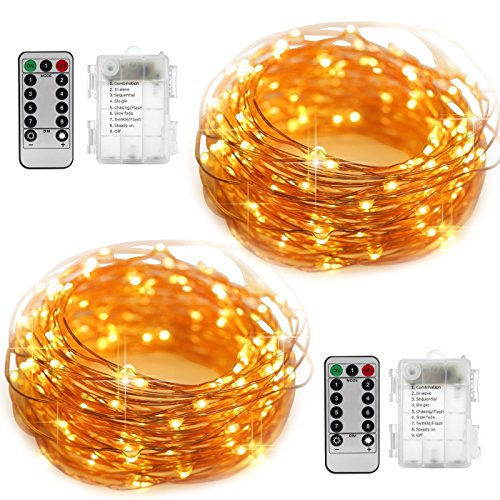 Cheap  YIHONG Fairy String Lights Battery Operated Set of 2, Halloween String Lights..