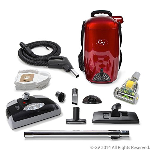 GV 8 Qt Quart Light Powerful HEPA BackPack Vacuum with power head nozzle 2 year warranty