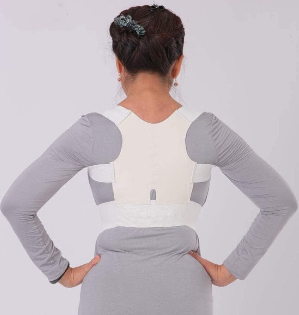 Ortesis jorobada Hombro Ortopedia con Abdomen Adulto espinal Postura Ortesis Fisioterapia espinal Corrector Soporte para la Espalda (Color : White, Size : Large)