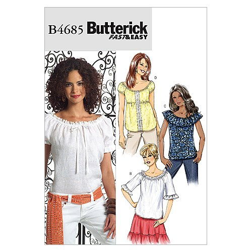 Butterick Patterns B4685 Misses' Top, Size FF (Butterick Craft Pattern)