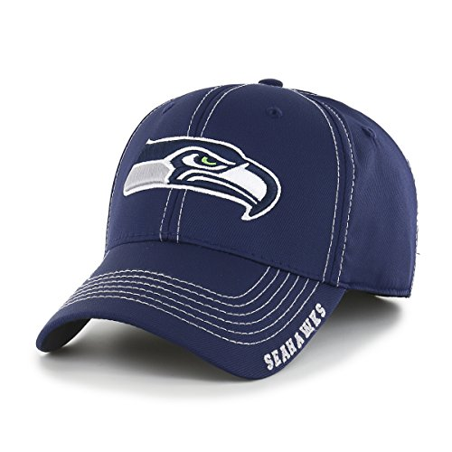 NFL Seattle Seahawks Adult Start Line Ots Center Stretch Fit Hat, Medium/Large, Light Navy]()