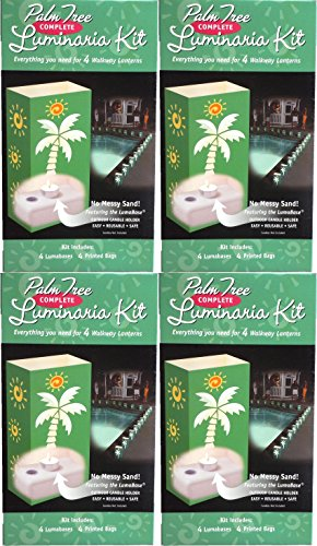 - Allied Precision Industries LumaBase Luminaria Outdoor Decor, Palm Tree Kit (4 Sets)