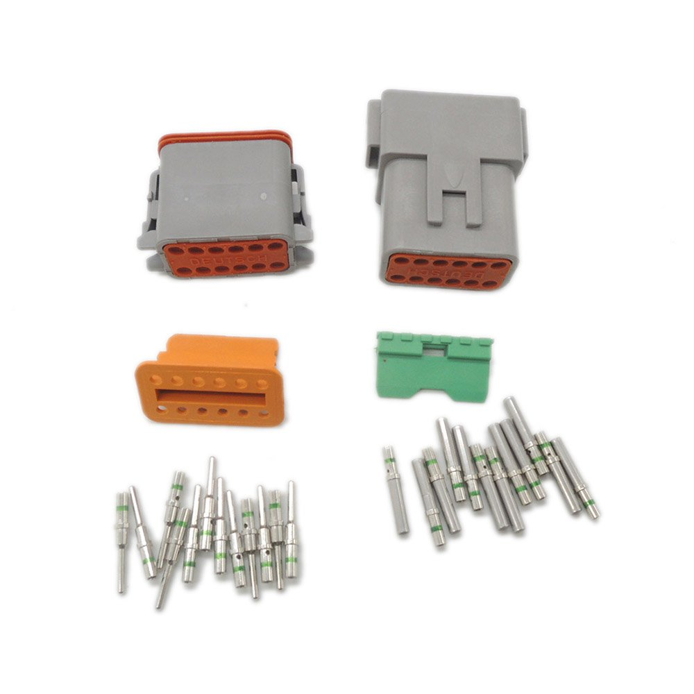 5 sets Kit DT 12 Pin Waterproof Electrical Wire Connector plug Kit DT06-12S DT04-12P 14 GA