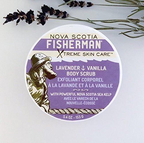- Nova Scotia Fisherman - Salt-N-Sea Body Scrub, All Natural, Vegan Friendly, with Nova Scotia Sea Kelp, No Artificial Ingredients, and Responsibly Sourced (Lavender and Vanilla, 5.4 oz)