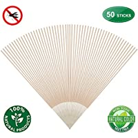 50 Pack Ducking Mosquito Repellent Sticks Bamboo Infused with Lemongrass & Grapefruit Peel