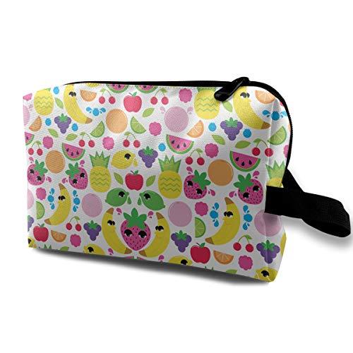 (Fruit Pattern Cosmetic Bags Makeup Organizer Bag Pouch Zipper Purse Handbag Clutch Bag)