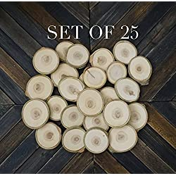 "SALE! Set of 25 2""-3"" Wood Slices, Tree Slices, Wedding Decor, Favors, Table Numbers, Woodworking, Rustic Wedding, Table Decor DIY Supplies"