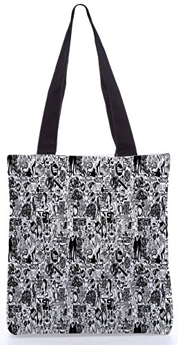 Snoogg Life Cycle Shopping Bag Uno13.5 X 15 Pollici Realizzato In Tela Di Poliestere