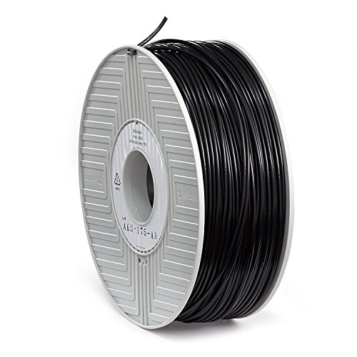 Verbatim 3D Printer Filament - ABS High-Grade 3mm 1kg Reel - Widely Compatible with 3D Printers - Black by Verbatim