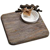Mud Pie 4754051 Nest Square Wood Board, Brown