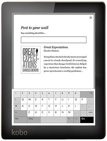 Rakuten Kobo Aura lectore de e-Book Pantalla táctil 4 GB WiFi Rosa ...