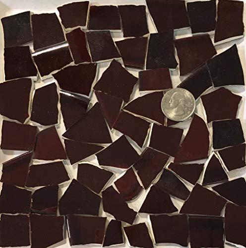 Mosaic Art & Crafts Supply ~ Datk Brown Tiles (B818)