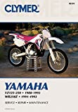 Clymer Yamaha YZ125-250; WR250Z, 1988-1993: Service, Repair, Maintenance (CLYMER MOTORCYCLE REPAIR)