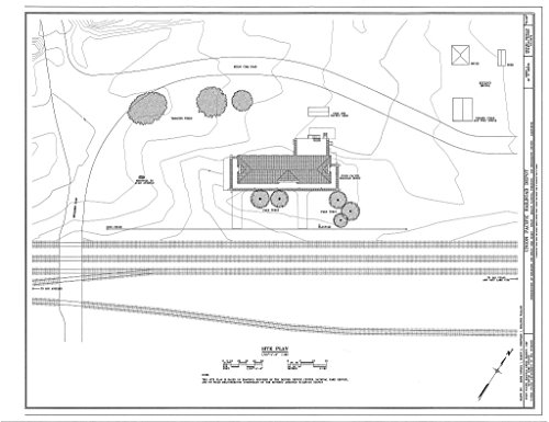 (Historic Pictoric Blueprint Diagram HABS Cal,36-Kelso,1- (Sheet 2 of 10) - Union Pacific Railroad Depot, Intersection of Kelbaker & Kelso CIMA Roads, Kelso, San Bernardino County, CA 14in x 11in)