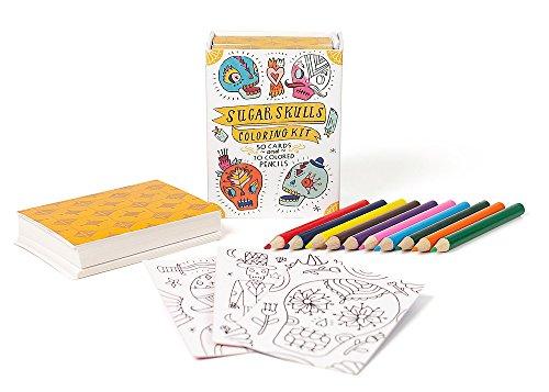 Sugar Skulls Coloring Kit (Miniature -