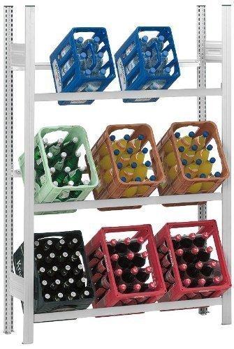 Getränkeregale Verzinkt mit 3 Ebenen für min. 9 Kästen (Grundregal)