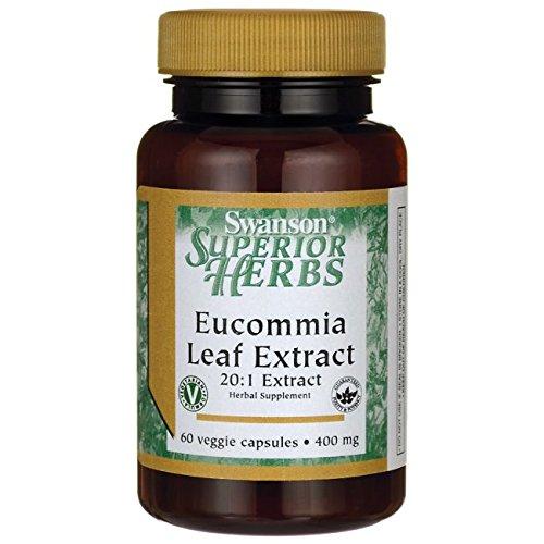 Eucommia Leaf - Swanson Eucommia Leaf Extract 20:1 400 Milligrams 60 Veg Capsules