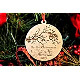 Personalized Christmas Ornament- 1st Christmas as Mr & Mrs Owls