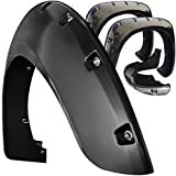 Fender Flares for 07-12 Chevy Silverado HD (Pack of 4) Bolt On Pocket Style Wheel Fenders Flare - Truck Accessories Best for Pick-up Trucks Trim Guards - Black Re-Paintable with Hardware Parts Kit