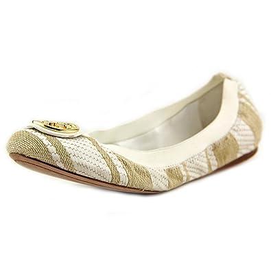 078be76ddcb9 Tory Burch Ballet Flats Caroline 2 - Oatmeal White (7)