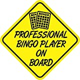 5in x 5in Professional Bingo Player On Board Bumper Sticker Vinyl Window Decal