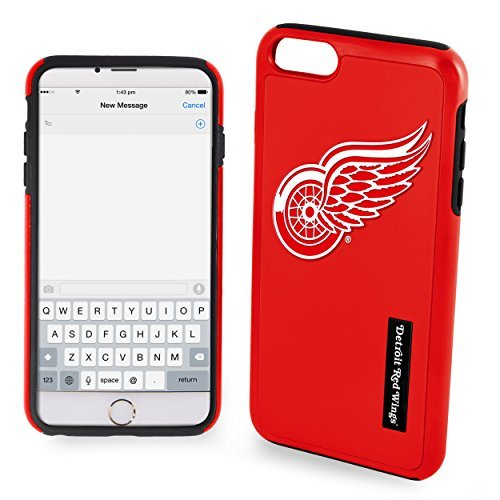 Wing Dual (NHL Detroit Red Wings IPhone 6 Dual Hybrid Case (2 Piece), Red)