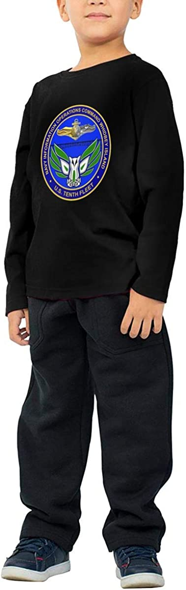 Navy Information Operations Command Whidbey Island Childrens Long Sleeve T-Shirt Boys Cotton Tee Tops