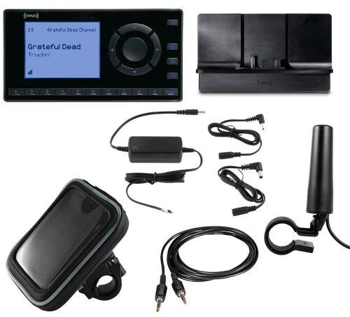 SiriusXM Radio Motorcycle Bundle with onyX EZ Receiver, Cradle, Motorcycle Antenna, Power Adpter, and Waterproof Case