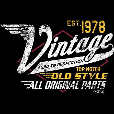 25a9af01650 Amazon.com  40th Birthday Gift Shirt - Racing - Vintage 1978 Aged to  Perfection  Clothing