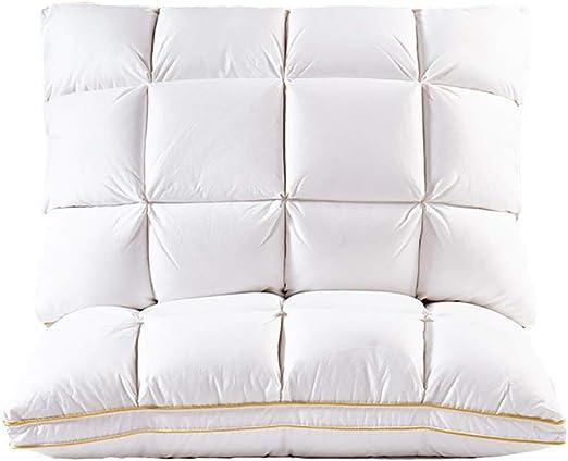 TOPY Pack 2 Almohada De Fibra para Dormir, Ganso Abajo Alternativa Almohada HIPO Hipoalergénicos, Lujosa Felpa con Doble Diamond Enrejado Que-Blanco Loft Medio: Amazon.es: Hogar