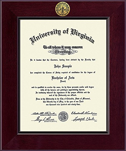 Elite Fan Shop Virginia Cavaliers Diploma Frame - Brown (Frame Diploma Auburn)