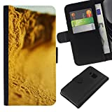 // PHONE CASE GIFT // Fashion Leather Wallet Case Stylish Credit Card & Money Pouch Protective Cover for HTC One M7 / Plant Nature Forrest Flower 87 /
