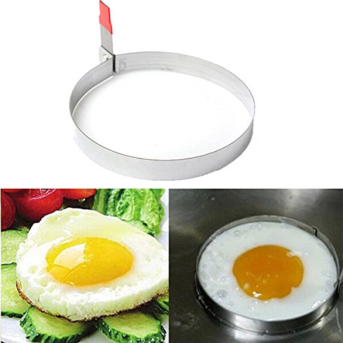 Bazaar Stainless Steel Round Fried Egg Cutter Cooking Mold Big Bazaar