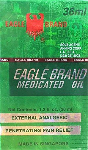 Eagle Brand Medicated Oil 36 mL (12 packs) (Eagle Oil)