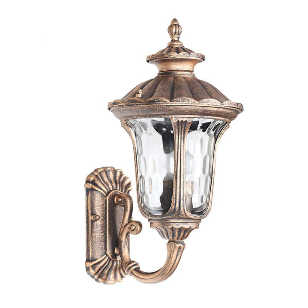 Ehime Außenwandleuchten Anti-Rost-und Anti-Korrosions-Lotus Wandleuchte Bronze Außenwand Lampe Garten Villa Lampe Retro Regen Wand Lampe im Freien Wand Lampe Garten Lampe