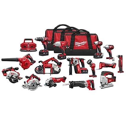 milwaukee 2695-15 m18 combo 15 tool kit w/4 xc bat - - .com