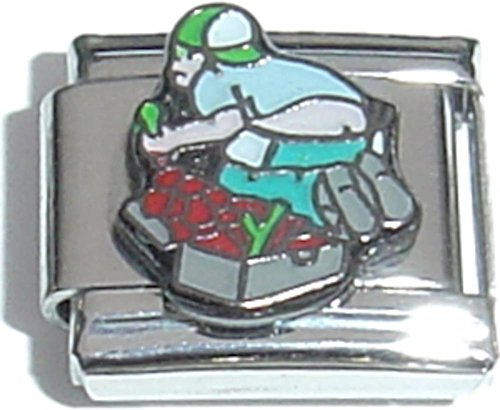 Charm Italian Fruit (Man Squishing Red Fruit Italian Charm)