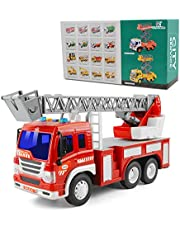 Toys for 2 Years Old Boys, Friction Powered Inertial Vehicles Gift Toy Cars for Toddlers & Kids (Trailer Lift Truck)