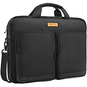 Tomtoc 15.6 Inch Laptop Shoulder Bag Laptop Briefcase Messenger Bag Case Sleeve for 15 - 15.6 Inch MacBook Asus Acer Dell Lenovo HP Laptop, Black