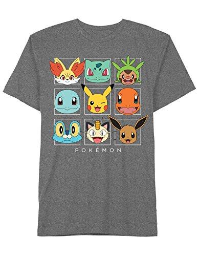 Pokemon Friendly Faces Mens Charcoal Grey Tee T-shirt Photo
