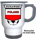 Maciej Zurawski (Poland) Soccer White Stainless Steel Mug
