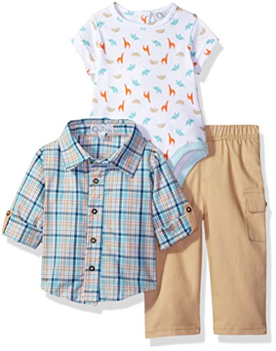 Quiltex Baby Boys' Playwear Set of 3 Pieces, Multi, 3/6