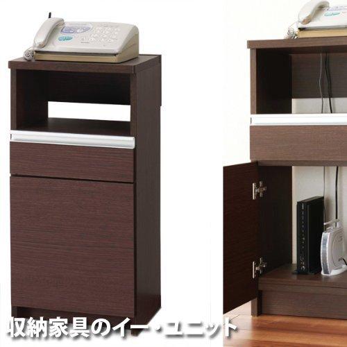 ケーブルを隠してすっきり!電話FAX台 幅42.5cmタイプ [日本製] B006LGU3DG